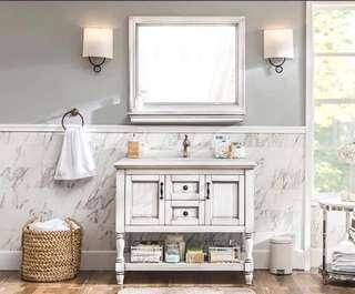 尺寸買錯咗平放 實木 台下盆 浴室 整座洗手盆 傢俬梳化搬屋 櫥櫃廁所櫃 chanel