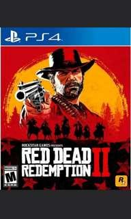 WTS RED DEAD REDEMPTION 2 PS4