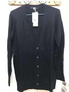 Uniqlo Women Cotton Cashmere Long V Neck Cardigan