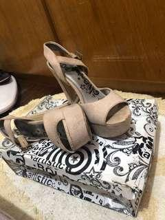 Beige Platform Shoes
