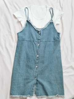 Denim Cami Dress with Inner set #NEW99