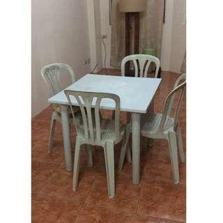 Monobloc Table and Chairs