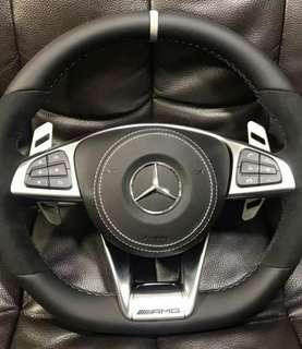 Mercedes AMG steering wheel paddle shift replacement Brabus style