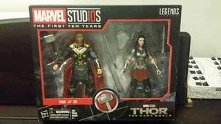 MARVEL LEGENDS THOR & LADY SIF 2PACK 6 INCH