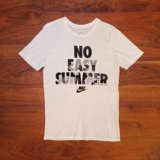 Nike No easy summer 白色短T