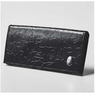 Instock! BAPE A Bathing Ape Long Textured Wallet (Black) *Jap Magazine GWP* PO111700210  + FREE Post