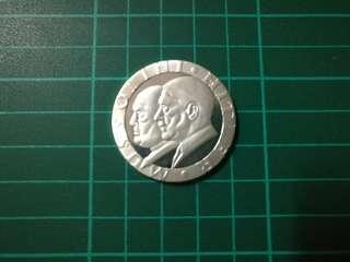 納粹人物墨索里尼/希特拉幣鑄幣