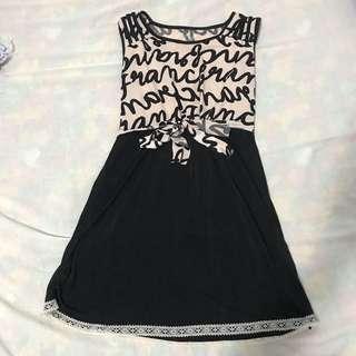 Brown & Black Dress.
