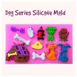 🐶 DOG SILICONE MOLD [Kennel • Bone • Pet Dog • Collar] for Pastry • Chocolate • Fondant • Gum Paste • Candy Melts • Jelly • Gummies • Agar Agar • Ice • Resin • Polymer Clay Craft Art • Candle Wax • Soap Mold • Chalk • Crayon Mould •