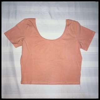 Salmon Crop Top