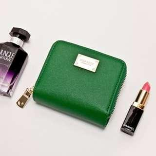 Instock! ZARA Saffiano Effect Short Wallet (Green) ASC3164 + Free Post!