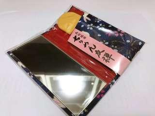 日本 直運 精美鏡盒連梳 (藍色)
