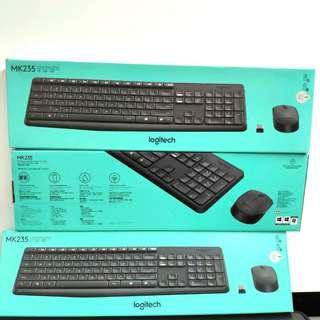 全新行貨 Logitech MK235 無線滑鼠鍵盤组合 Wireless Mouse and Keyboard
