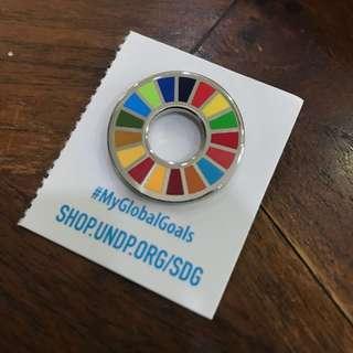 UN SDGs pin budge