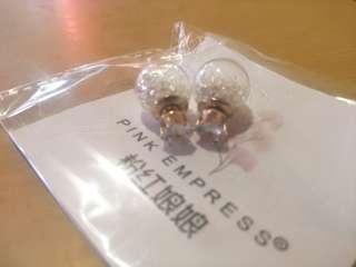 White crystal earring ear stud Xmas gift Promo!