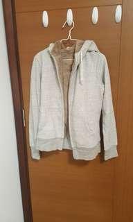 uniqlo fur hooded zip up jacket
