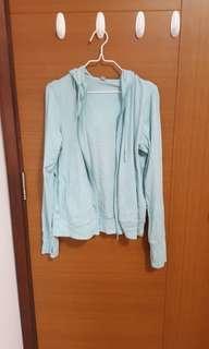 uniqlo light turquoise blue cardigan