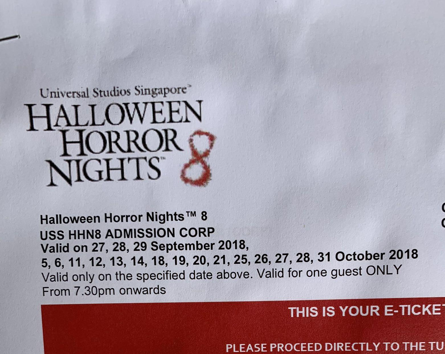 2x USS Halloween Ticket with $5 FREE Meal voucher