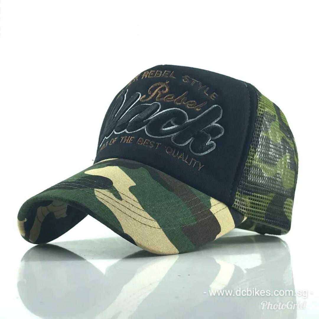 🆕! Rebel Camouflage Black Trucker Mesh Baseball Cap  OK bce0c0f44d44