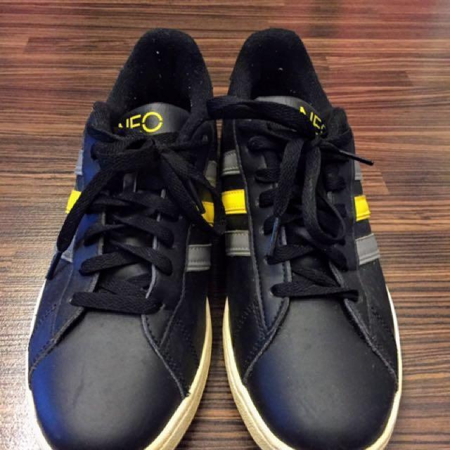 Adidas NEO. Black with yellow/grey