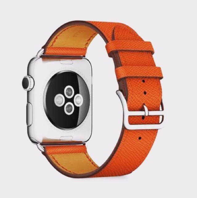 Apple Watch Band Hermes Orange Single Tour Strap 38mm 40mm 42mm