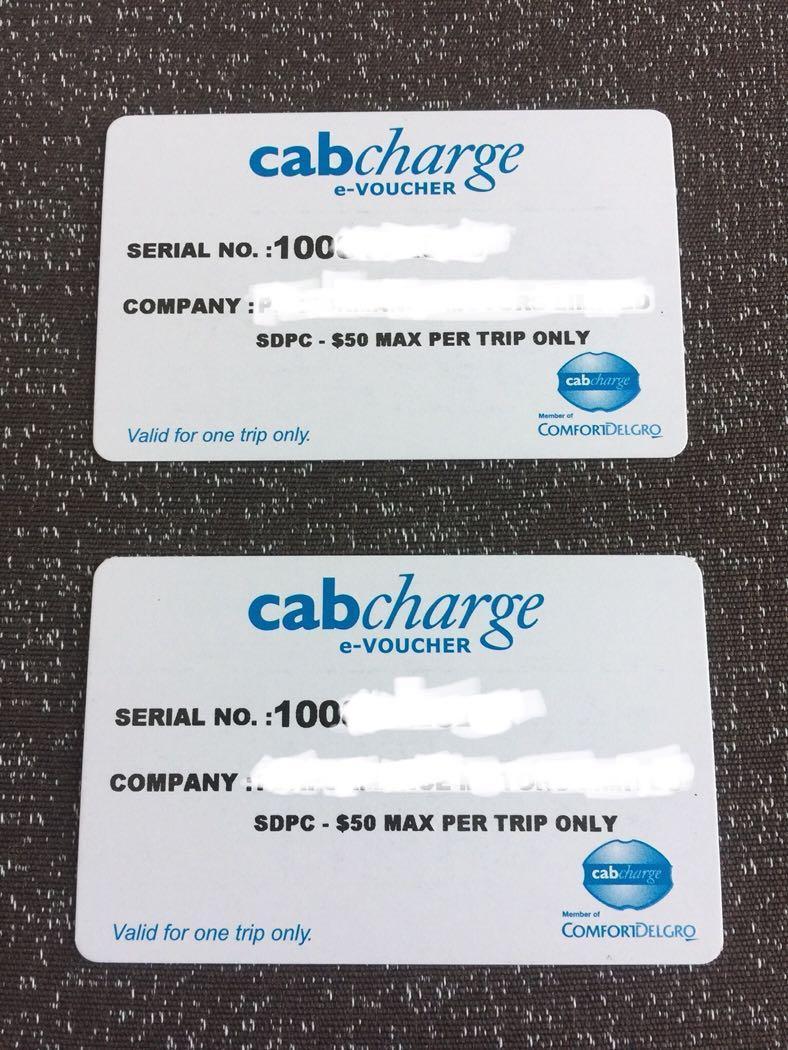 Authentic Comfort Delgro CabCharge e-Voucher $100