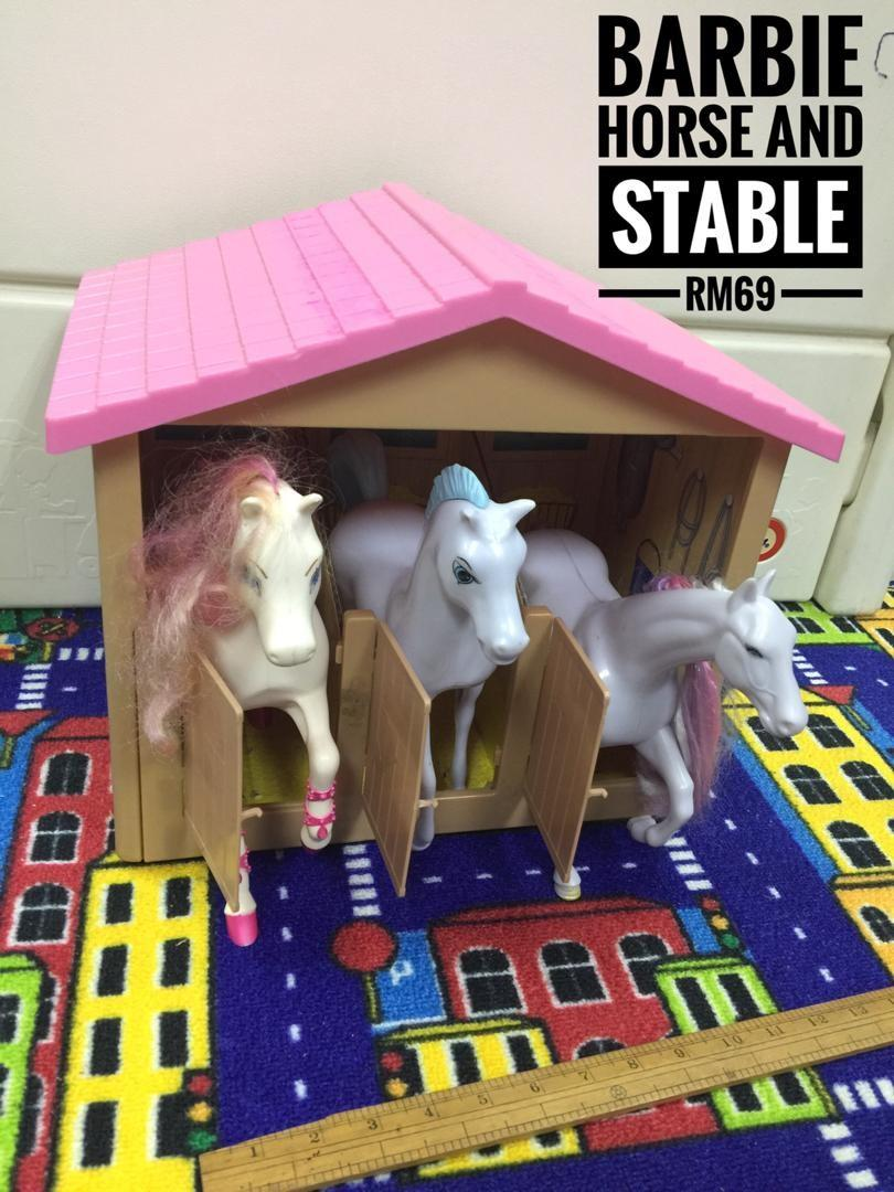 Barbie Horse And Stable Toys Games Other Toys On Carousell