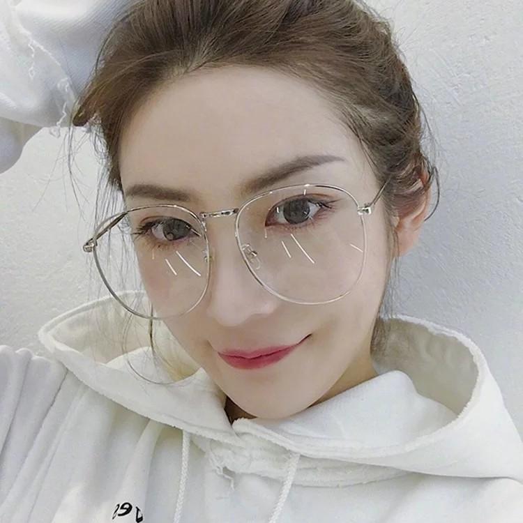 7a7f3148c7f Big round glasses korean fashion
