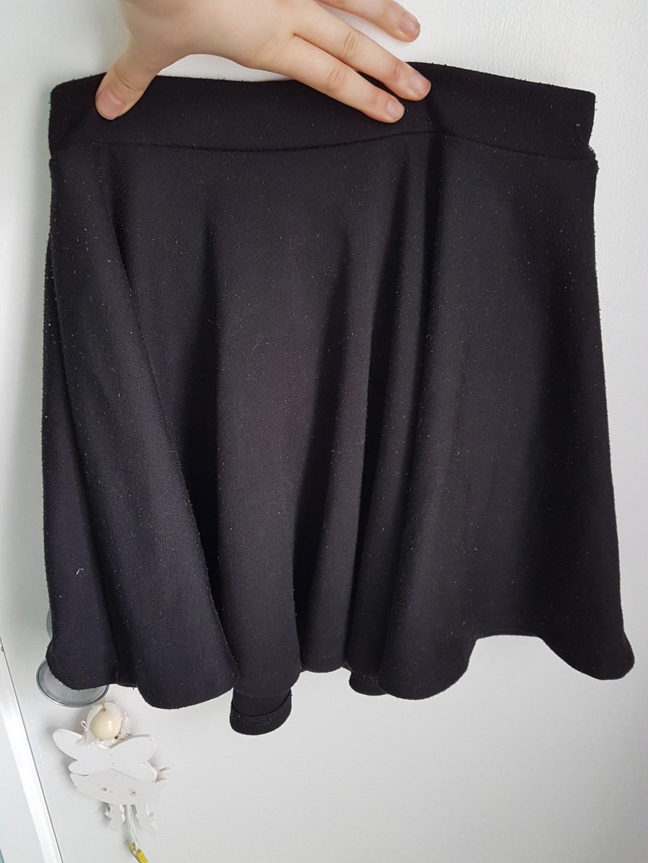Black a line skirt
