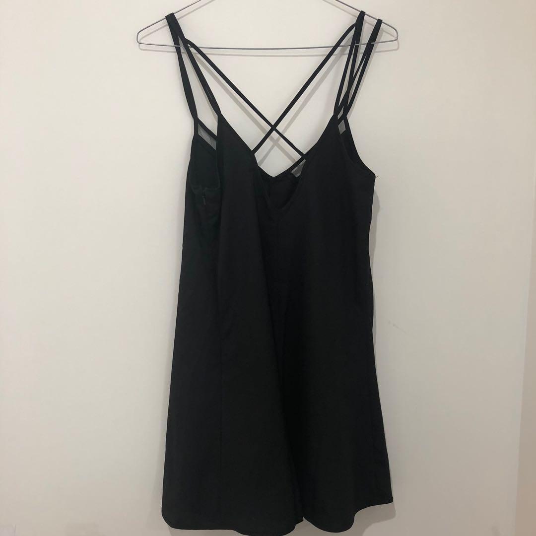 Black mesh playsuit