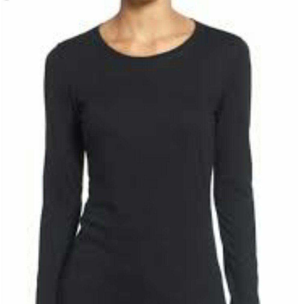 71fb899f410531 BNWT H&M Black Long Sleeve Top, Women's Fashion, Clothes, Tops on ...