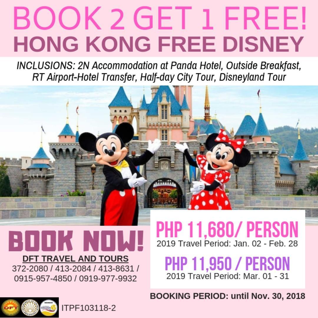 Hong Kong Disneyland Ticket Price Promotion : Hong Kong