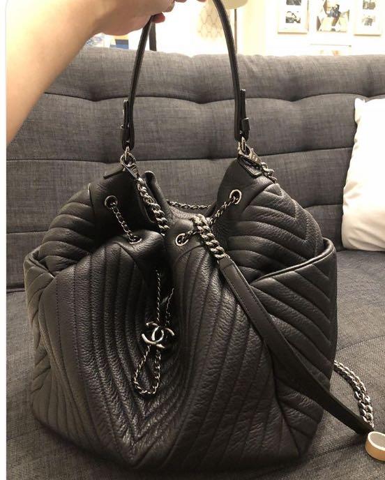 331aa70bc92f Chanel Deerskin Drawstring Bucket Bag (2016)