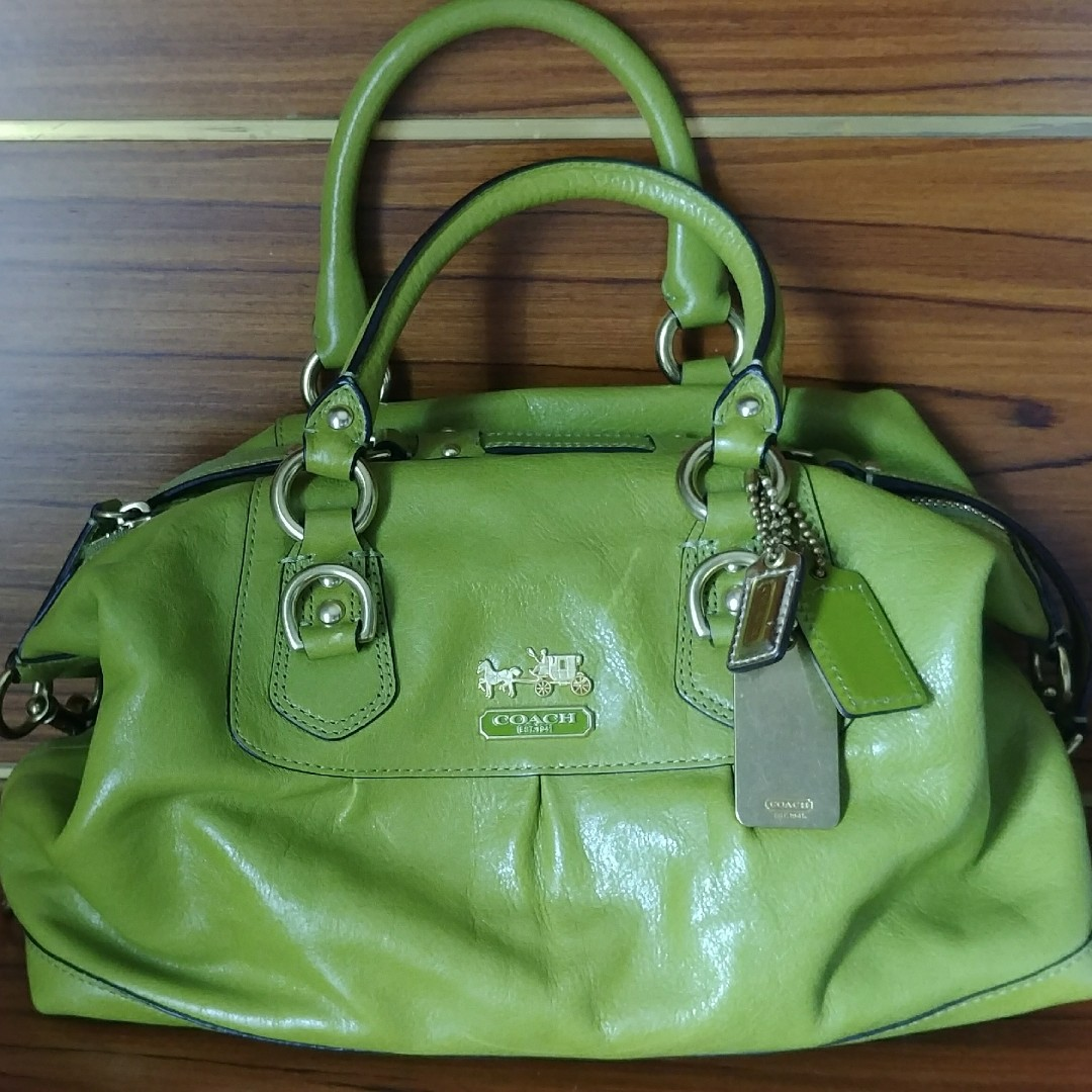 Coach Madison Sabrina Satchel Convertible strap in Green dc0bb3c8f87d9