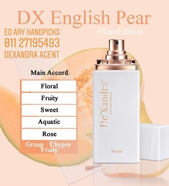 Dx English Pear Dexandra Eau De Parfum Health Beauty Perfumes