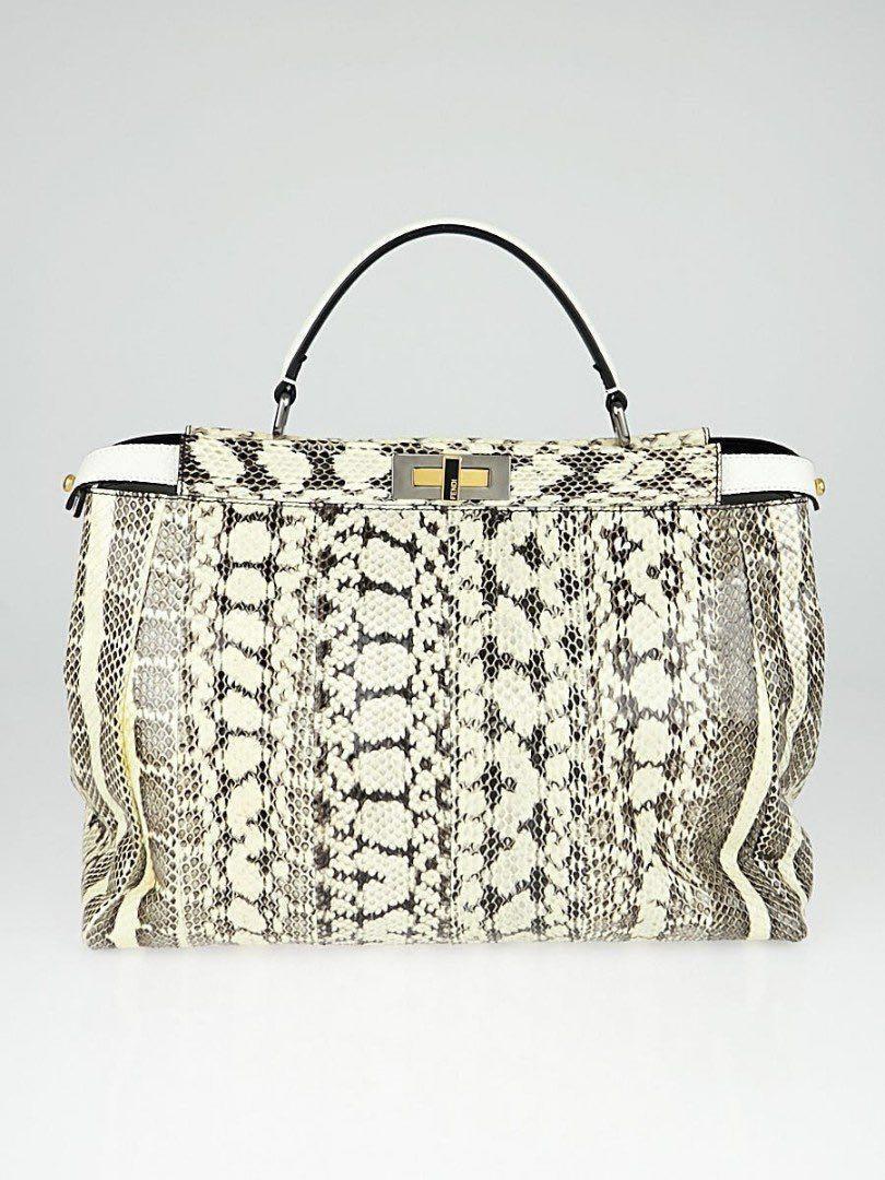 72677527fdfc **Fendi watersnake peekaboo handbag (Rare), Women's Fashion, Bags &  Wallets, Handbags on Carousell