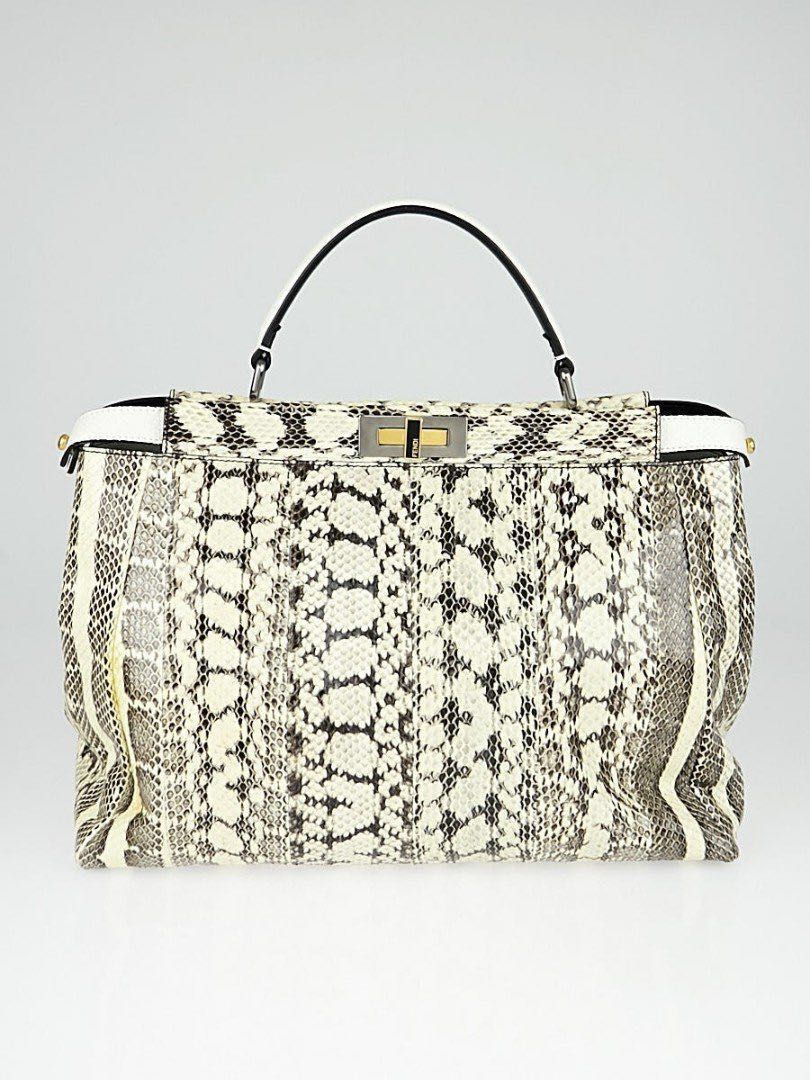 936a9db693a0 **Fendi watersnake peekaboo handbag (Rare), Women's Fashion, Bags &  Wallets, Handbags on Carousell