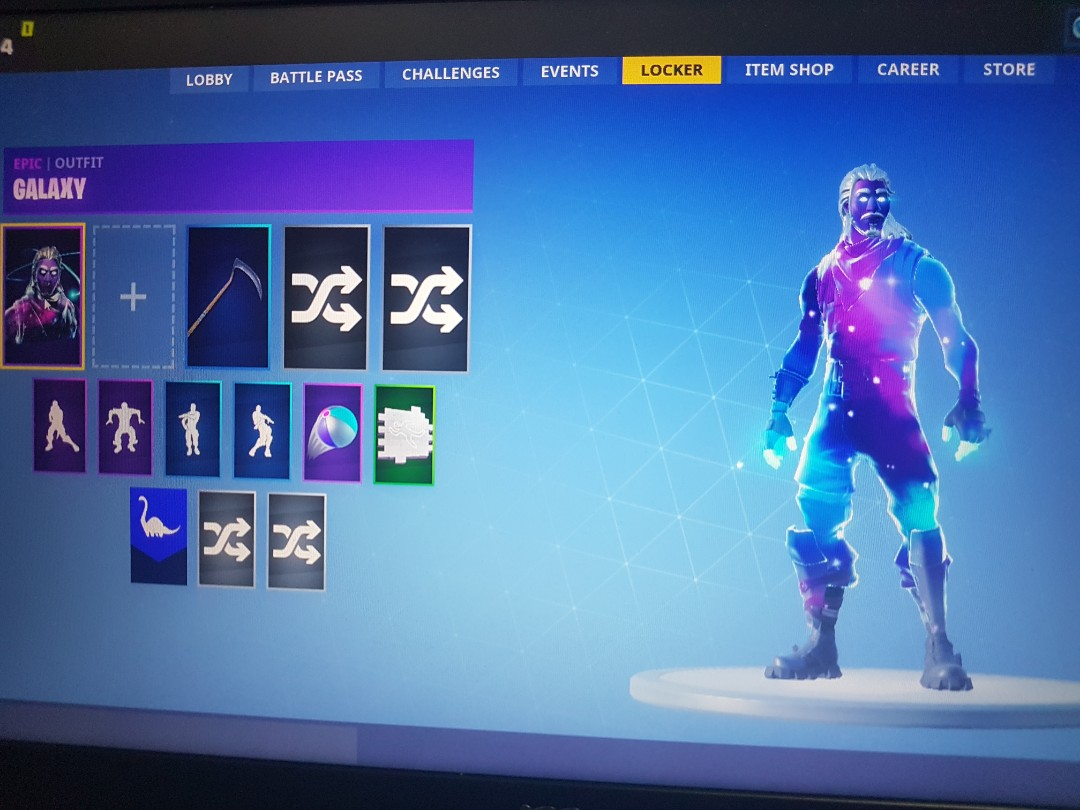 Fornite Account Galaxy Skin
