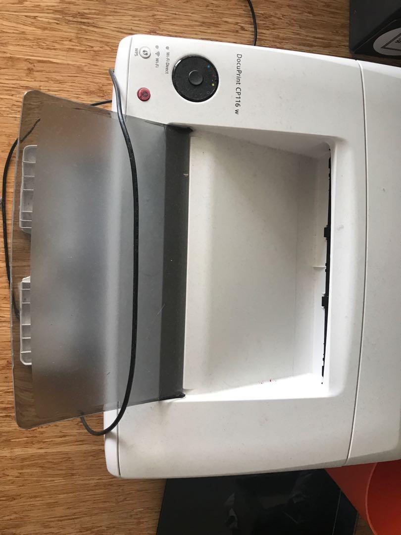 Fuji xerox docuprint cp116 w printer laser colour wireless wifi