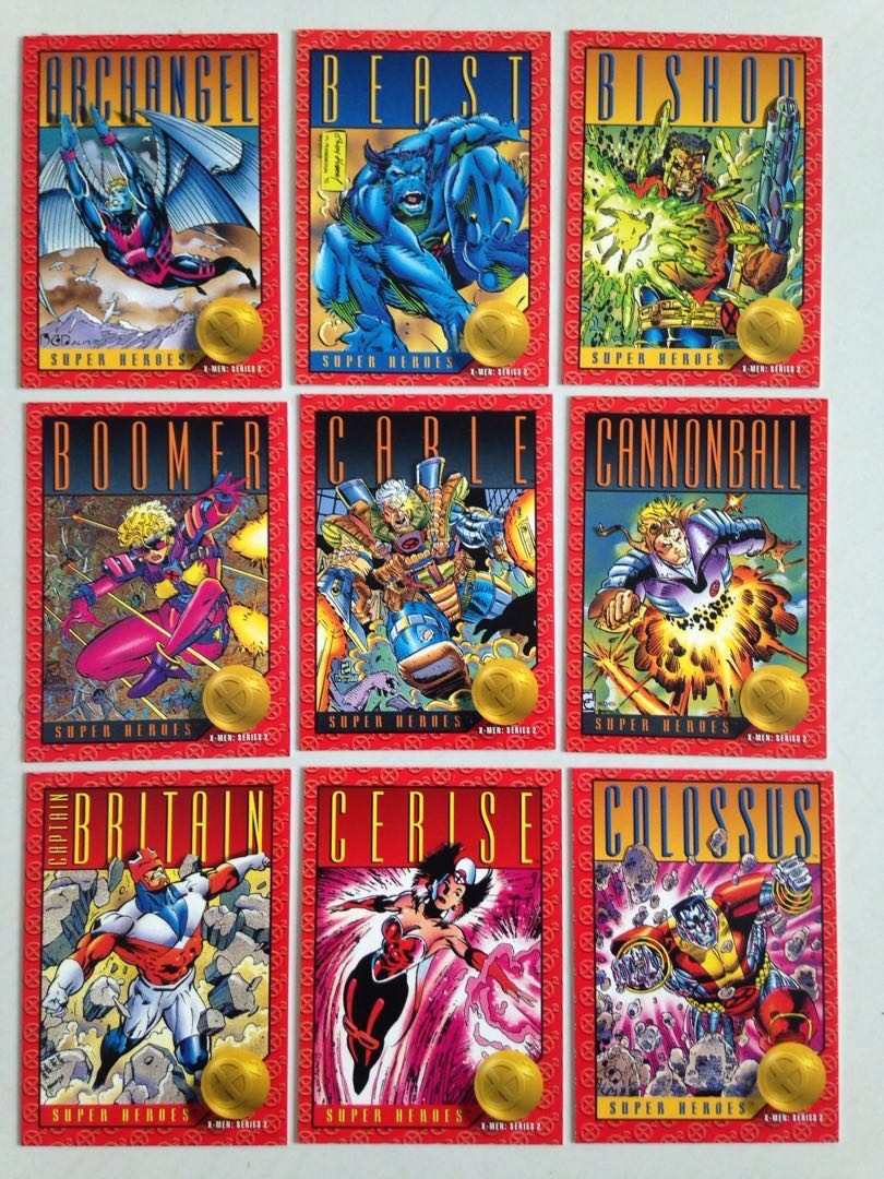 a9f9baad927 Full Set 1993 X-Men Skybox (100 Base Cards) Marvel Complete + free 9 ...