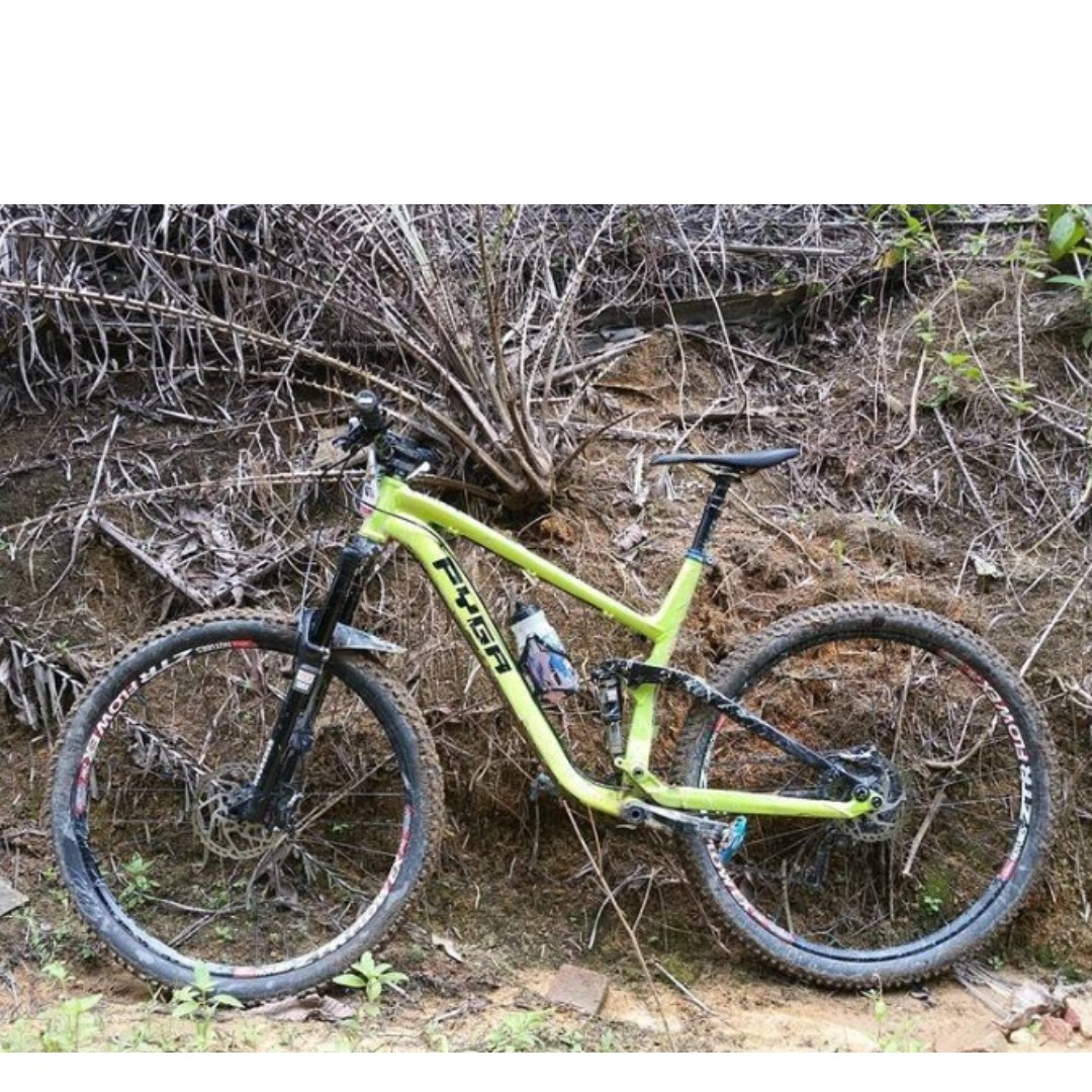 430630f0642 Full Suspension PYGA Enduro MTB for sale, Bicycles & PMDs, Bicycles,  Mountain Bikes on Carousell