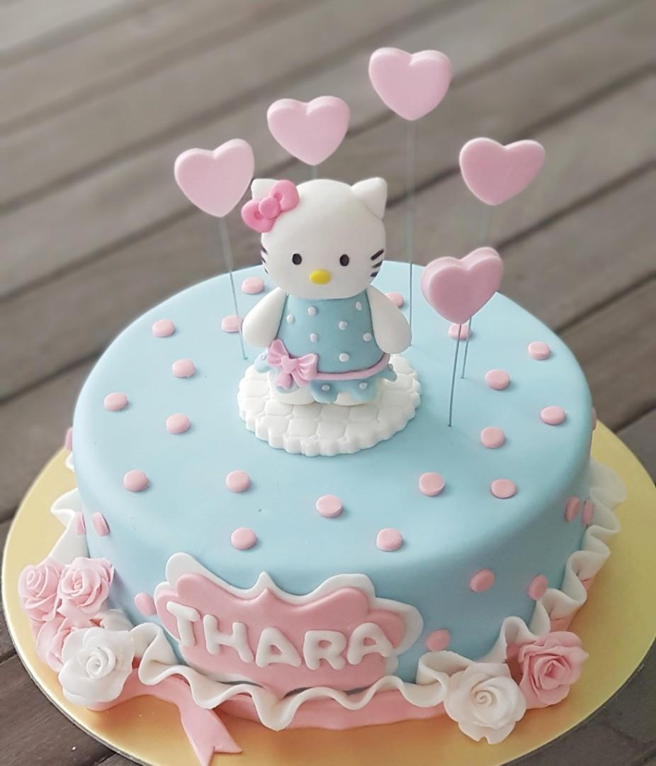Tremendous Hello Kitty Birthday Cake Food Drinks Baked Goods On Carousell Personalised Birthday Cards Cominlily Jamesorg