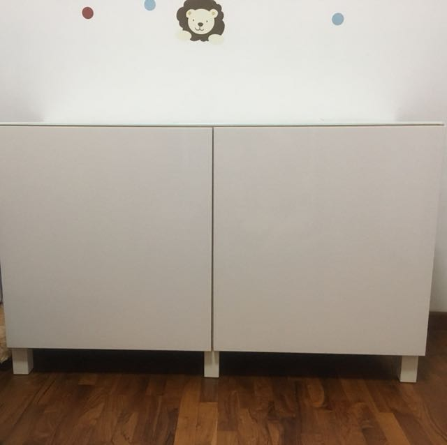 Ikea Besta Sideboard With Gl Top Furniture Others On Carou