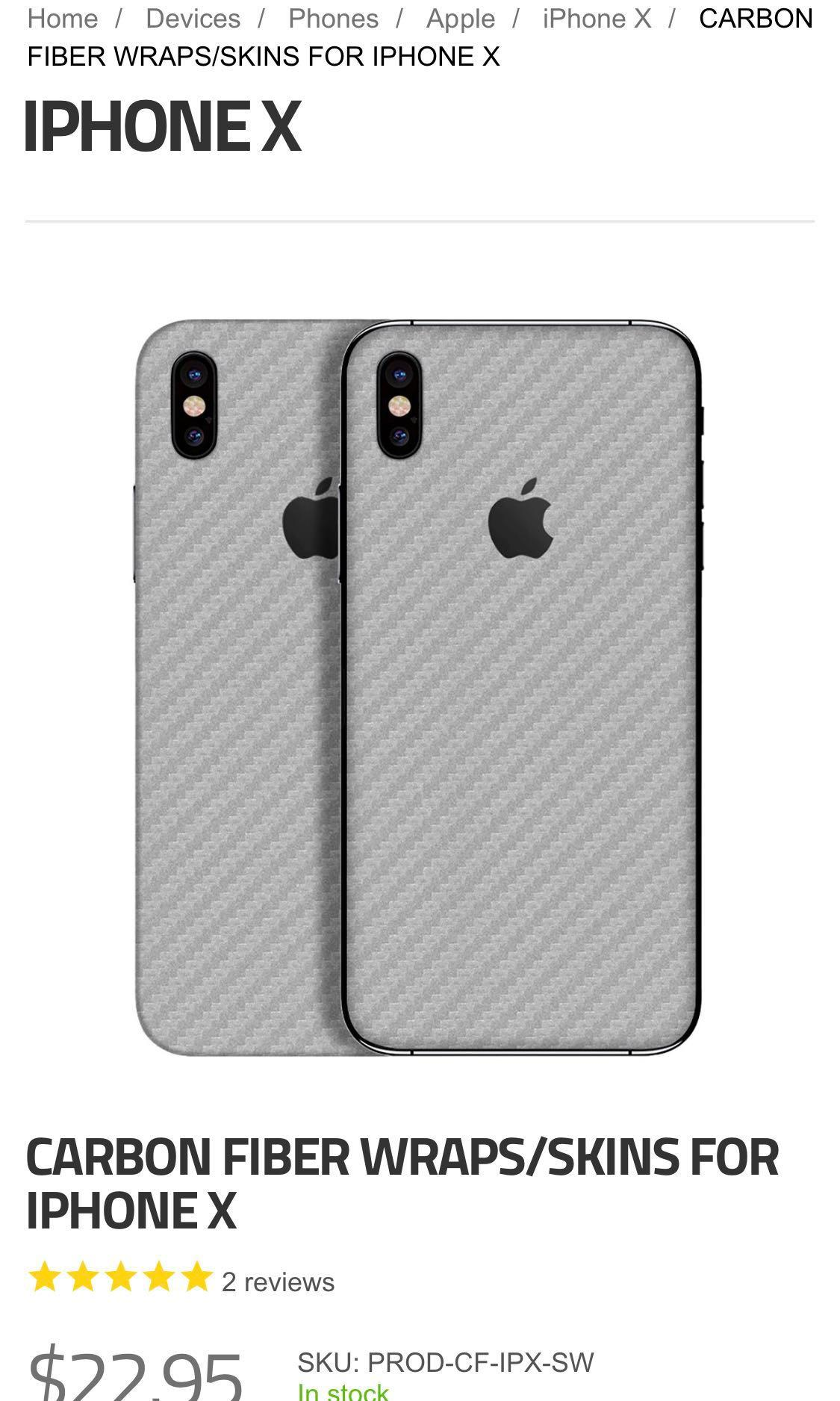 iPhone X Xs skin from Slickwraps, Mobile Phones & Tablets