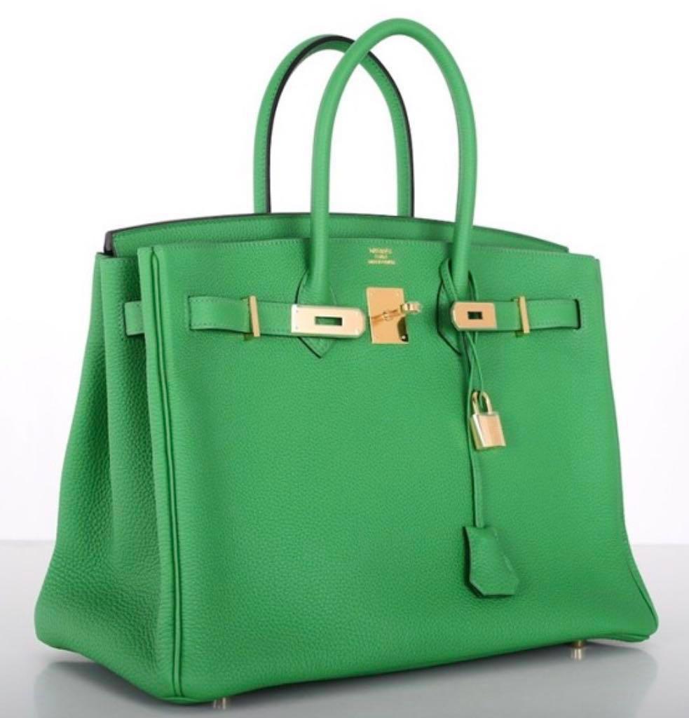 b1b85a8c283 LNIB Hermes B35 Bamboo Birkin Togo Leather Ghw  R