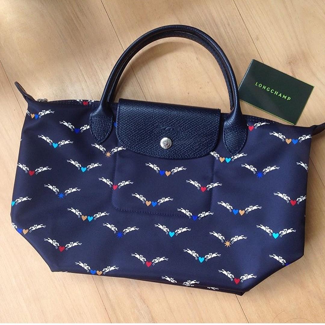 4b4a049fba9c Longchamp Le Pliage Chevaux Ailes Medium Tote Handbag - Limited ...