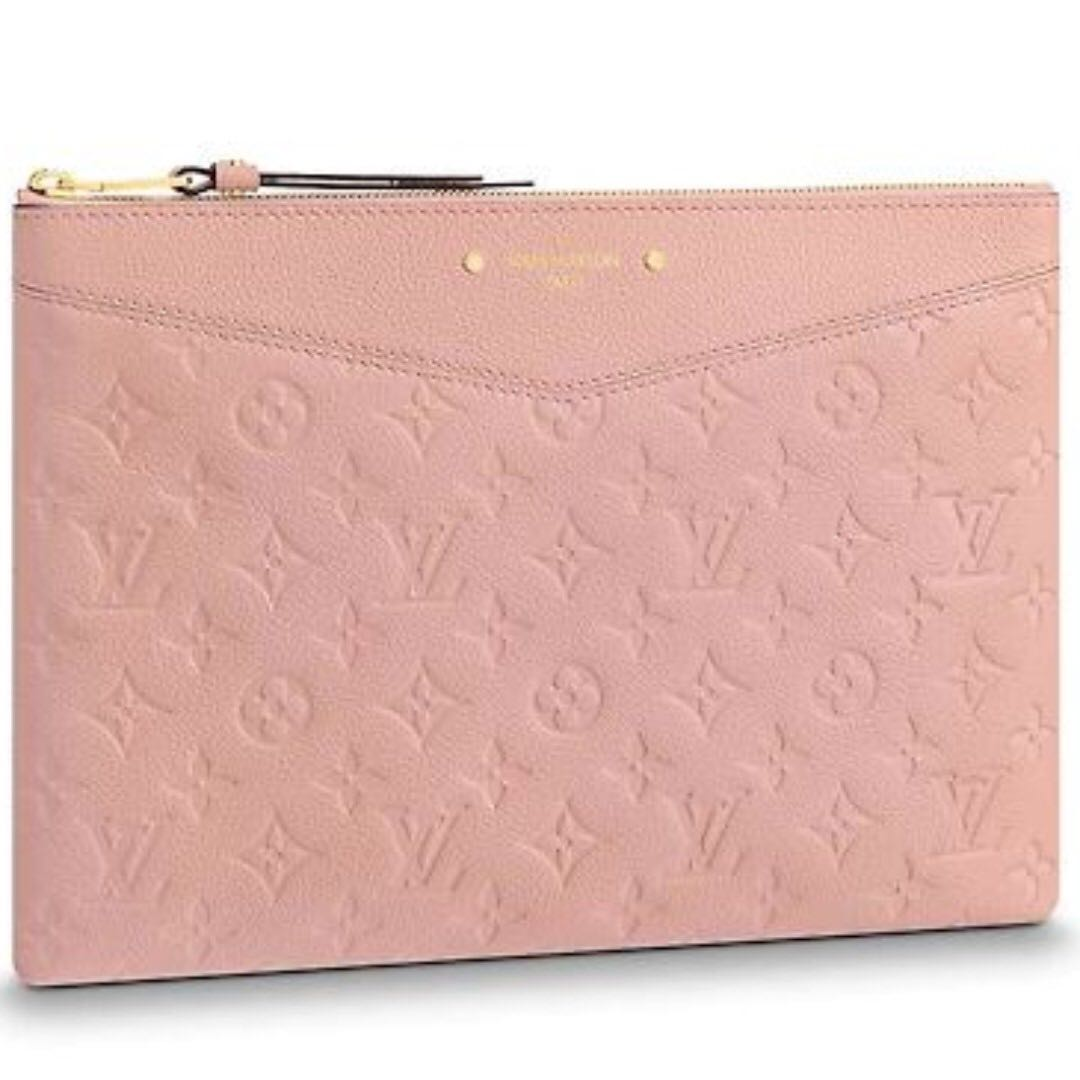 Lv louis vuitton daily pouch clutch women fashion bags wallets handbags on  carousell jpg 1080x1080 Pink 44b71defe0401