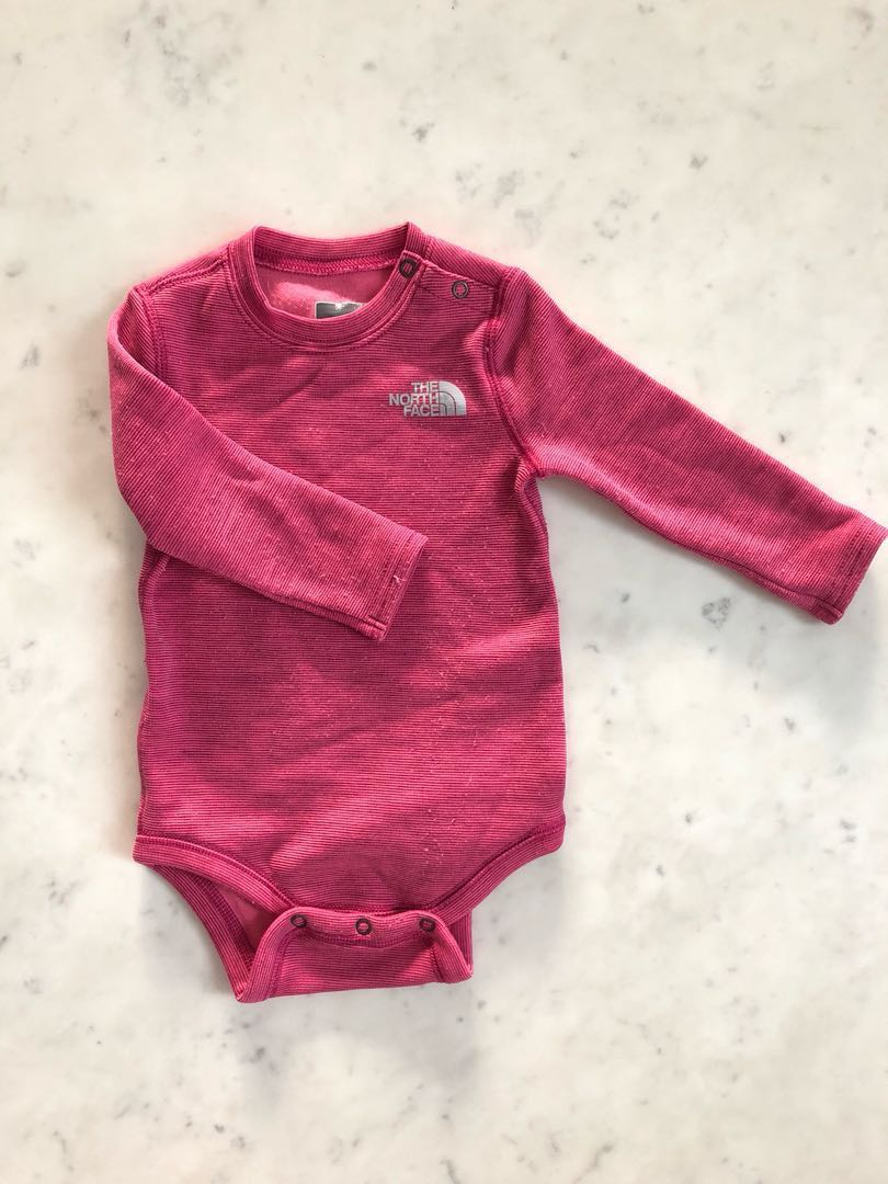 5ff72a7a3 North Face baby base layer winter romper thermal under layer razzle ...