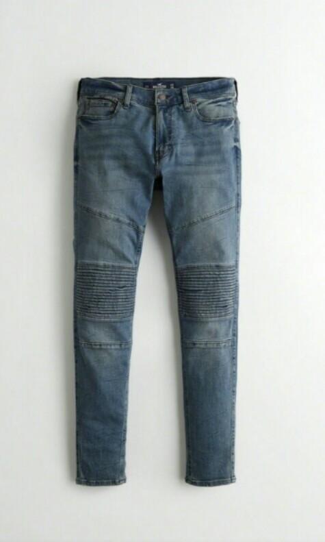 6c9d79709b4 NWT Authentic Hollister mens moto jeans size 34 length 30