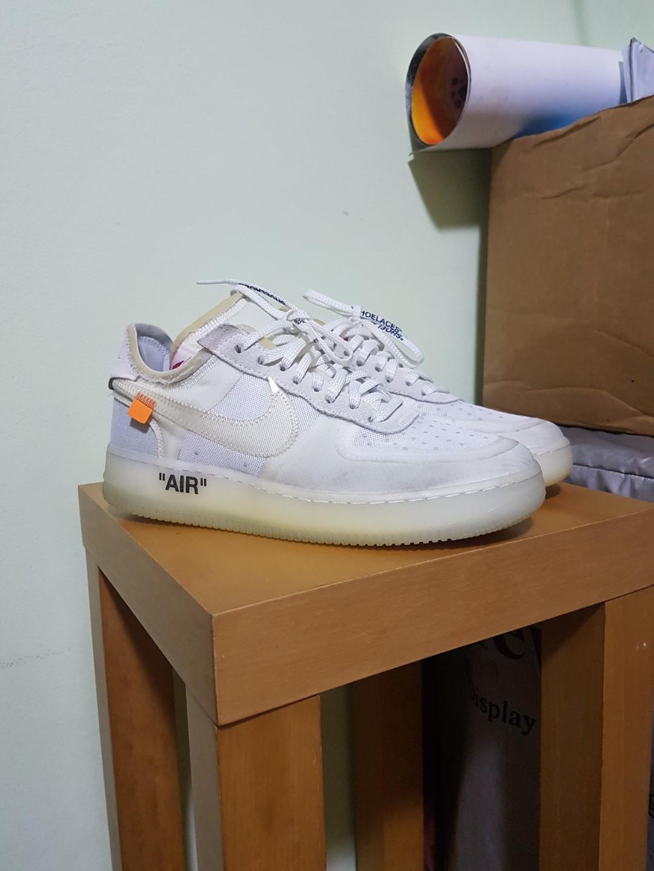 80e6ccc85e9bf Off White Nike Air Force 1 The Ten US8, Men's Fashion, Footwear ...